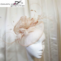Cream  wedding fascinator 1083